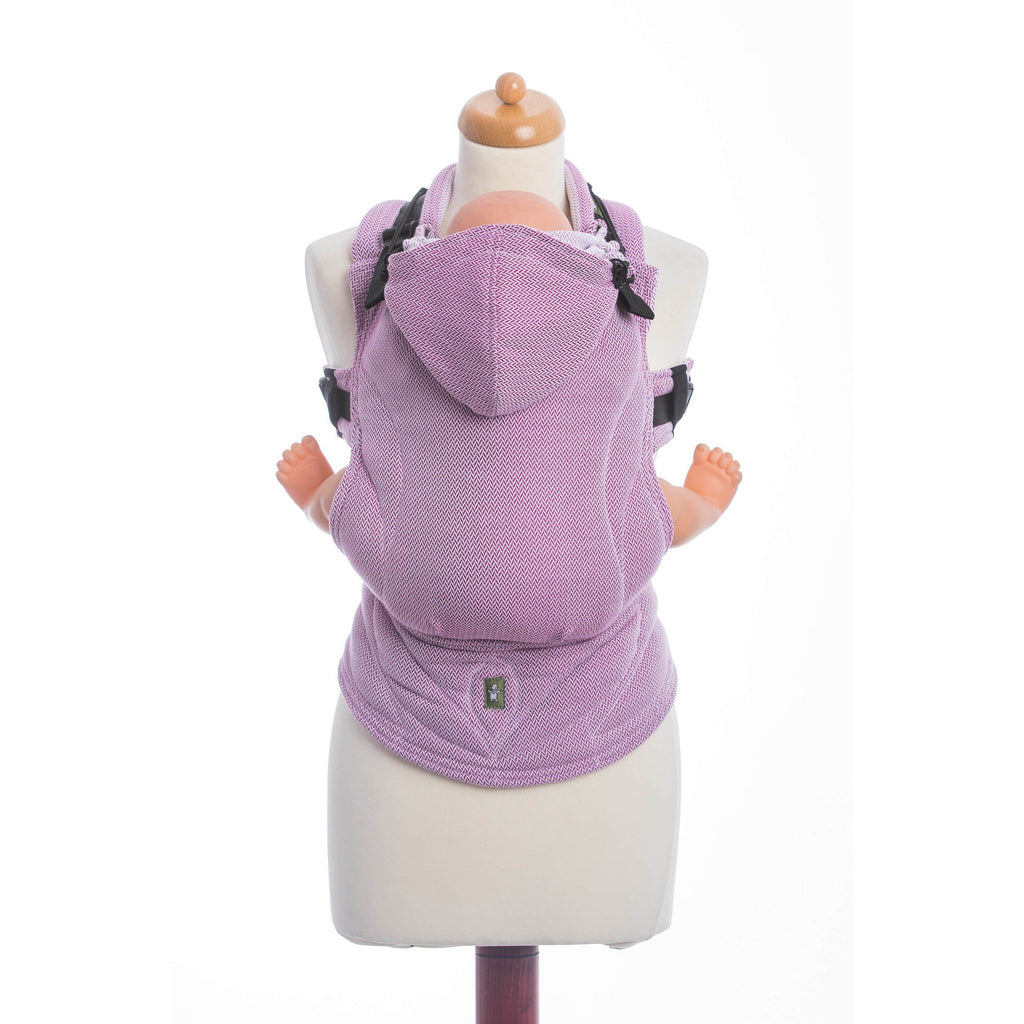 LennyLamb - Little Herringbone Purple Carrier-Binky Boppy