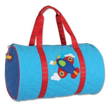 Stephen Joseph - Quilted Duffle (Airplane)-Binky Boppy
