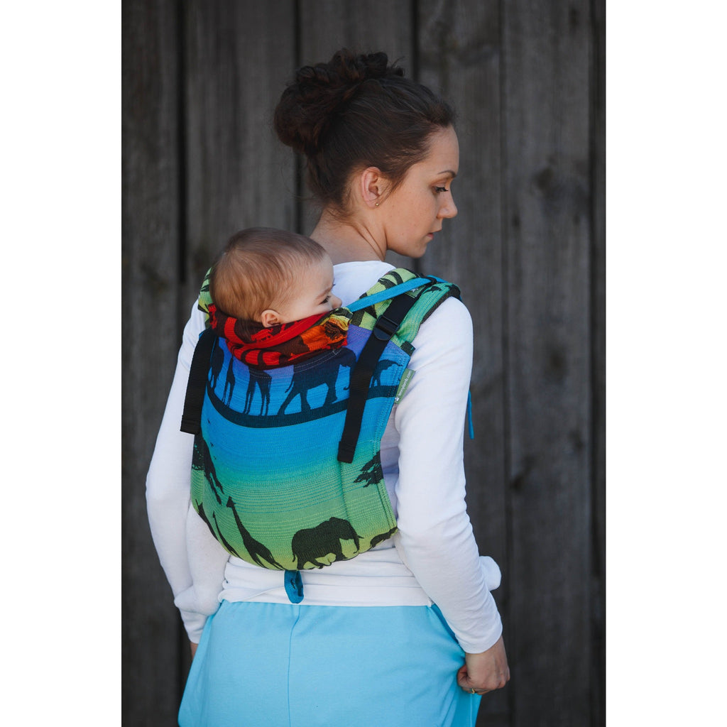 LennyLamb - Rainbow Safari Buckle Onbu-Binky Boppy