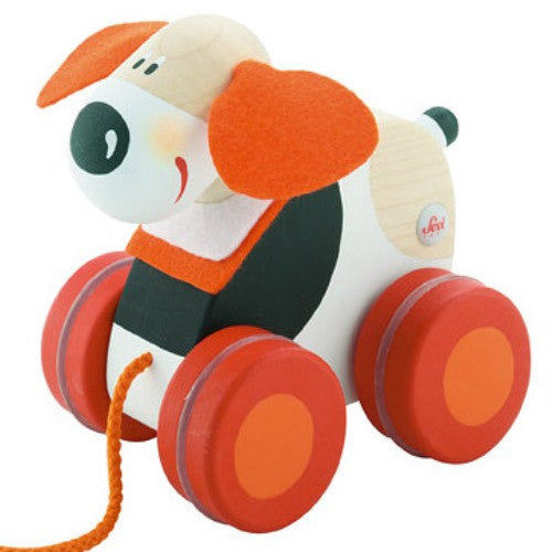 Sevi - Mini Pull Along Dog-Binky Boppy