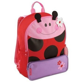 Stephen Joseph - Sidekick Backpack (Ladybug)-Binky Boppy