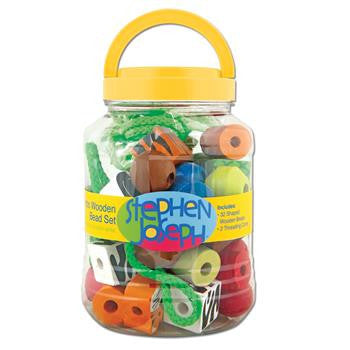 Stephen Joseph - Bead String Set (Zoo)-Binky Boppy