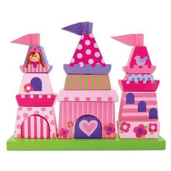 Stephen Joseph - Wooden Stacking Toys (Castle)-Binky Boppy