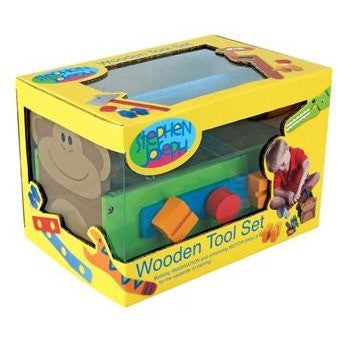 Stephen Joseph - Wooden Tool Set (Zoo)-Binky Boppy