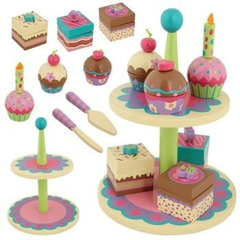 Stephen Joseph - Wooden Sweet Set (Cupcake)-Binky Boppy