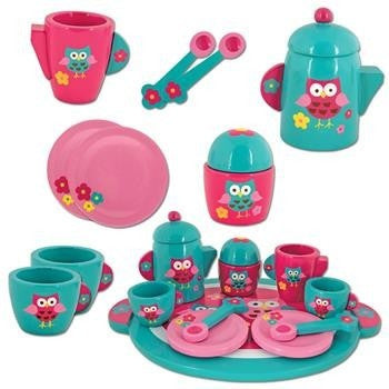 Stephen Joseph - Wooden Tea Set (Owl)-Binky Boppy