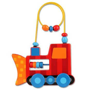 Stephen Joseph - Rolling Wire Bead Toy (Construction)-Binky Boppy