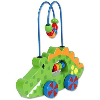 Stephen Joseph - Rolling Wire Bead Toy (Alligator)-Binky Boppy