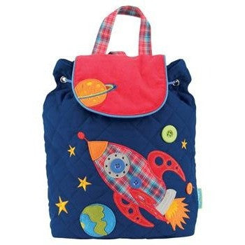 Stephen Joseph - Signature Backpack (Space)-Binky Boppy
