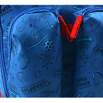 Winghouse - Wing Exciting Double Pocket Backpack (Blue)-Binky Boppy