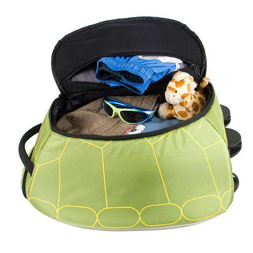 LittleLife - Animal Wheelie Duffle (Turtle)-Binky Boppy