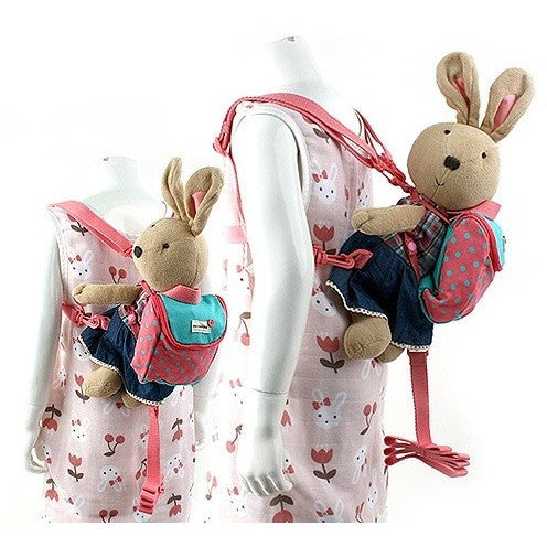 Winghouse - Love Shu Toy Safety Harness Backpack (Coral)-Binky Boppy