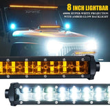 "Xprite Sunrise Series 8"" Double Row LED Light Bar with Amber Backlight"