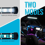 "Xprite Aquatic Series 14"" Single Row 60W LED Light Bar with Blue Backlight"