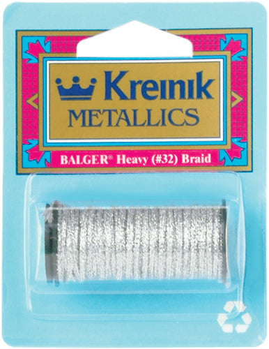 Kreinik Heavy Metallic Braid #32 5.5yd
