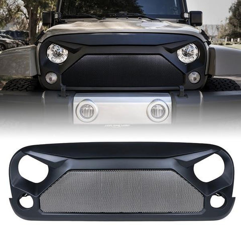 Xprite Gladiator Grille with Steel Mesh for 2007-2018 Jeep Wrangler JK