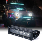 "Xprite Aquatic Series 8"" Double Row LED Light Bar with Blue Backlight"