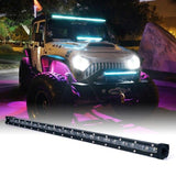 "Xprite Aquatic Series 26"" Single Row 120W LED Light Bar with Blue Backlight"