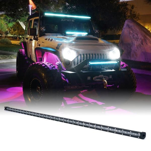 "Xprite Aquatic Series 50"" Single Row 240W LED Light Bar with Blue Backlight"