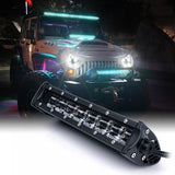 "Xprite Aquatic Series 9.5"" Double Row LED Light Bar with Blue Backlight"