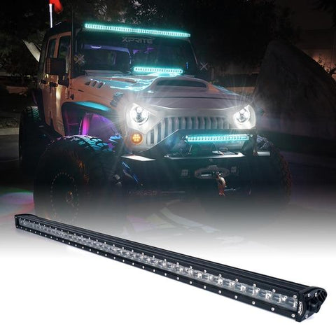 "Xprite Aquatic Series 42"" Double Row LED Light Bar with Blue Backlight"