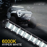 "Xprite Sunrise Series 32"" Double Row LED Light Bar with Amber Backlight"
