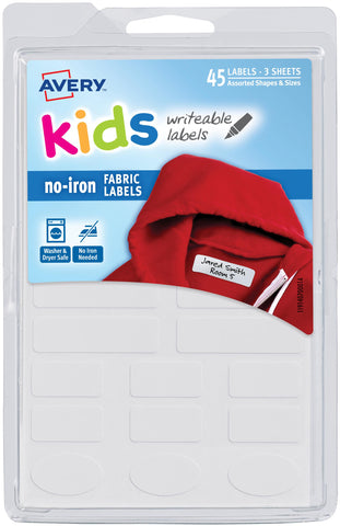 No-Iron Clothing Labels 45/Pkg