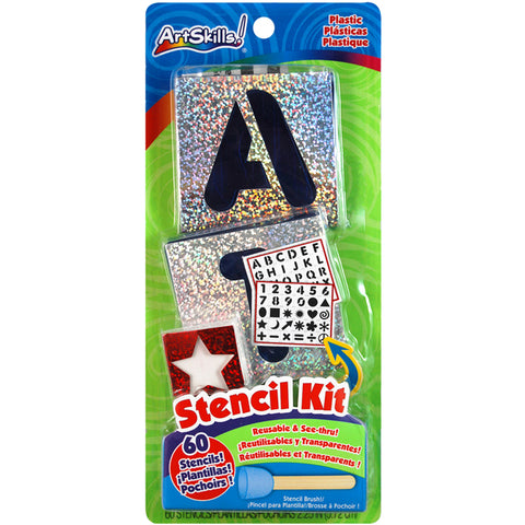 Reusable Letters, Numbers & Shapes Stencil Kit