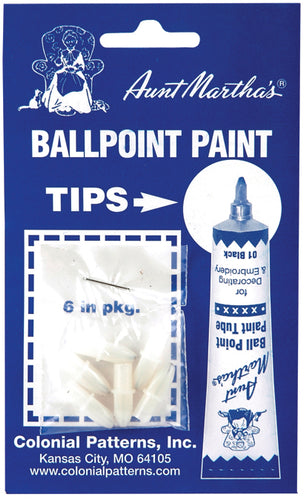 Aunt Martha's Ballpoint Paint Tube Replacement Tips 6/Pkg