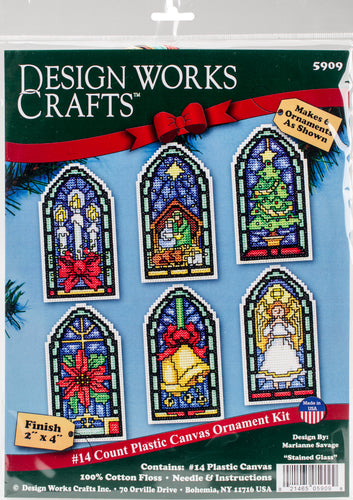 "Design Works Counted Cross Stitch Kit 2""X4"" 6/Pkg"