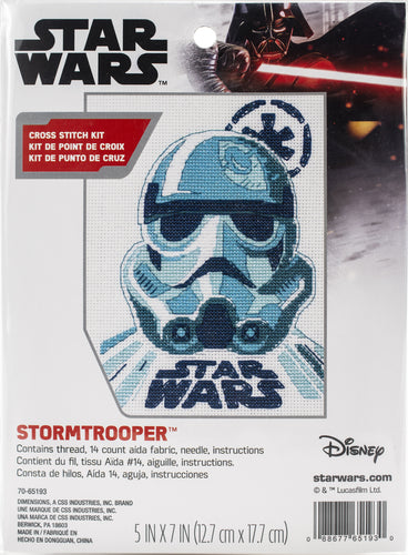"Dimensions Star Wars Counted Cross Stitch Kit 5""X7"""