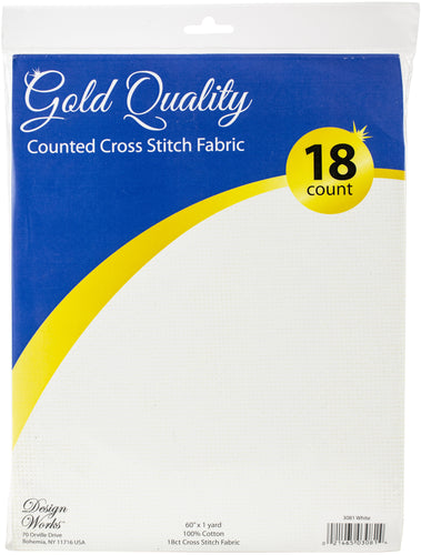 "Design Works Gold Quality Aida 18 Count 60""X36"""
