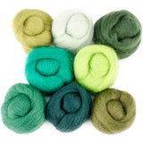 "Wistyria Editions Wool Roving 12"" .25oz 8/Pkg"