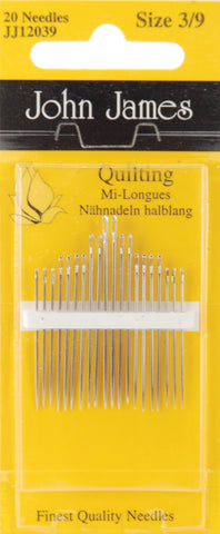 Quilting/Betweens Hnd Ndls-Size 3/9 20/Pkg