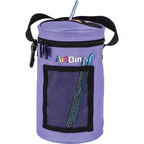 ArtBin Mini Yarn Drum Knitting & Crocheting Tote Bag-Periwinkle, 6832AG