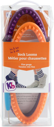"Knitting Board Sock Loom 8""X3.5"" 2/Pkg"