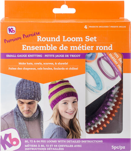 Knitting Board Premium Round Loom Set