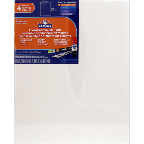 "Elmer's Foam Boards 11""X14""X.1875"" 4/Pkg"