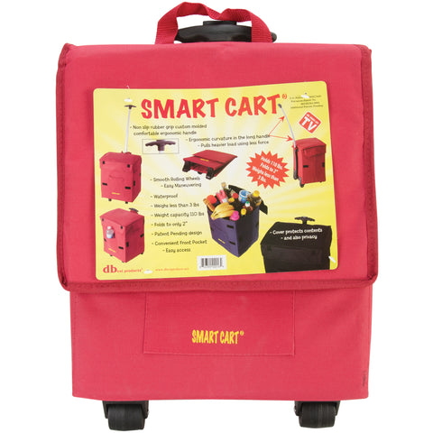 Smart Cart, RED  Rolling Multipurpose Collapsible Basket Cart Scrapbooking
