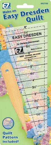 EZ Quilting Easy Dresden Quilting Ruler