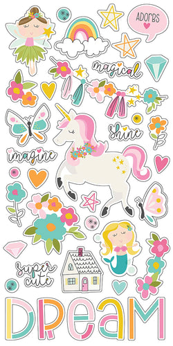 "Dream Big Chipboard Stickers 6""X12"""