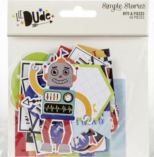 Lil' Dude Bits & Pieces Die-Cuts 66/Pkg