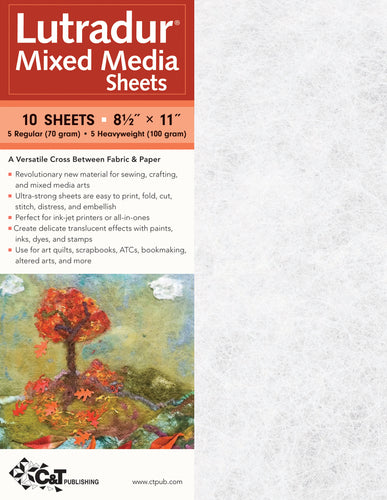 Lutradur Mixed Media Sheets 10/Pkg