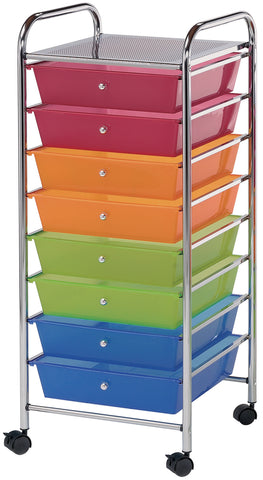 Alvin Rolling Storage Cart W/8 Drawers