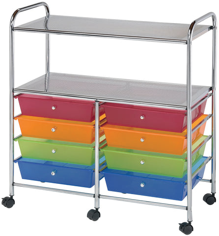 Alvin Rolling Double Storage Cart W/8 Drawers