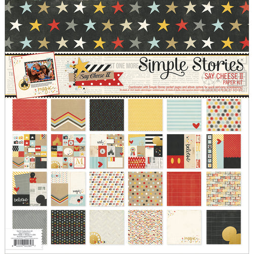 "Simple Stories Double-Sided Paper Pack 12""X12"" 12/Pkg"
