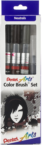 Pentel Arts Color Brush Set 4/Pkg