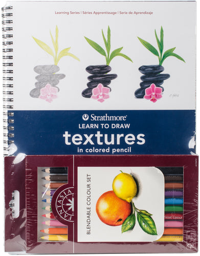 Learn To Draw Textures In Colored Pencil Set