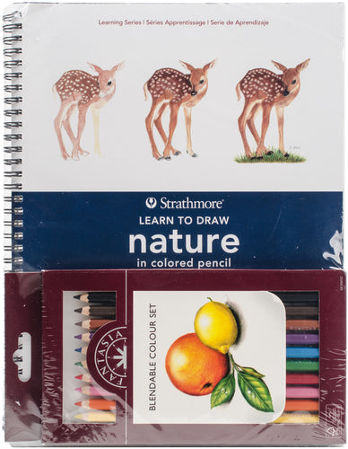 Learn To Draw Nature In Colored Pencil Set