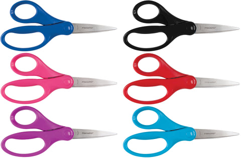 Fiskars Big Kids' Pointed Tip Scissors 6""